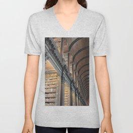 Trinity College Library Unisex V-Neck