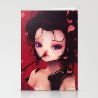 geisha Stationery Cards featuring Geisha by Ludovic Jacqz