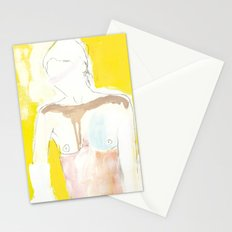 Figure on Gold Stationery Cards
