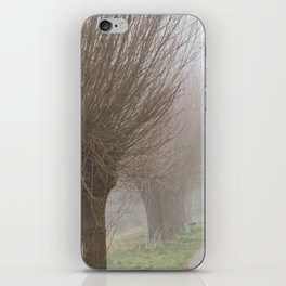 Misty willow lane iPhone Skin