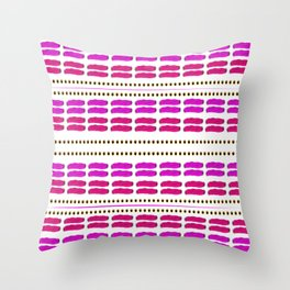 Stitch for stitch in pink Throw Pillow