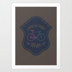 Love At First Ride Bike Art Print