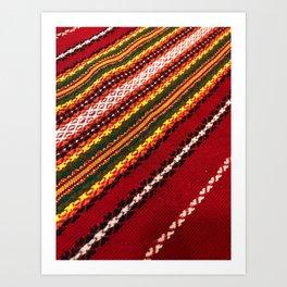 Authentic Bulgarian tablecloth Art Print