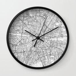 Munich Map Line Wall Clock