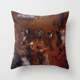 African-American Classical Masterpiece Harlem Dance Hall by Archibald Motley Throw Pillow