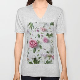 Flower Petals Unisex V-Neck