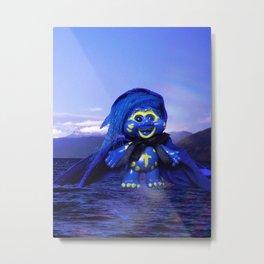 Blue Troll Metal Print