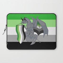 Pride Dragons - Aromantic Flag Laptop Sleeve