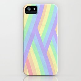 """Rainbow shine"" geometrical minimal art iPhone Case"