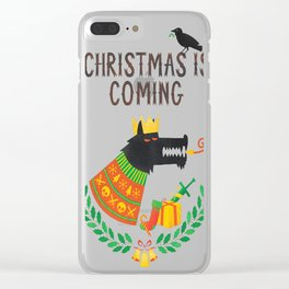 Christmas is coming Clear iPhone Case