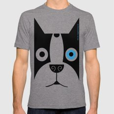 Boogie Face Tri-Grey LARGE Mens Fitted Tee