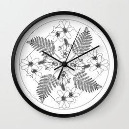 New Zealand Flora Wall Clock