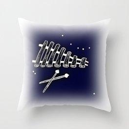 Space Marimba Throw Pillow