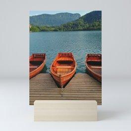 Lake Bled Boats Mini Art Print