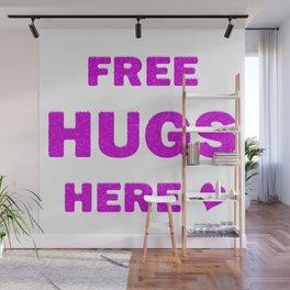 Free Hugs Here Wall Mural