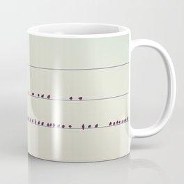thirty-seven little birds sitting in a row ... Coffee Mug