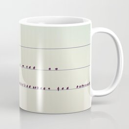 thirty-seven little birds sitting in a row ... Coffee Mug