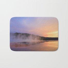 sunset at grand prismatic Bath Mat
