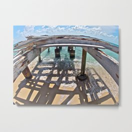Turks and Caicos Queen Dock Metal Print