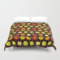 fruit Duvet Covers featuring FRUIT by badOdds
