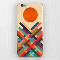 sun iPhone & iPod Skins featuring Sun Shrine by Picomodi