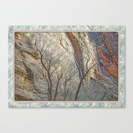 CANYON LACE IN ORANGE AND BLUE Canvas Print