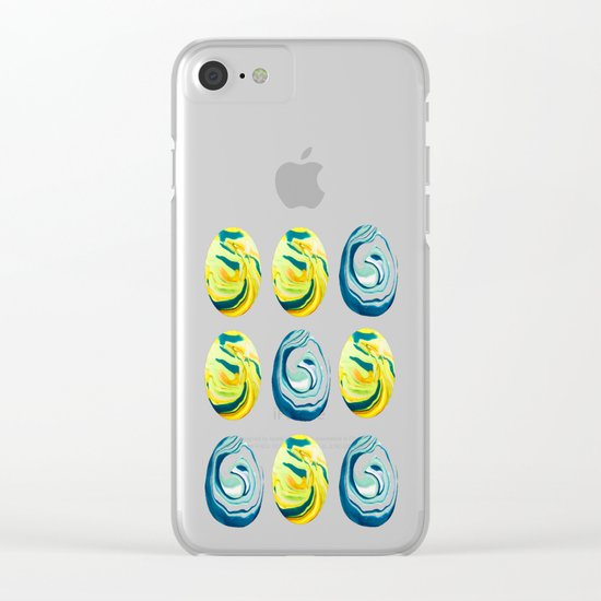 Marbling Tic Tac Toe Clear iPhone Case