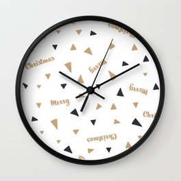 Christmas Pattern Wall Clock