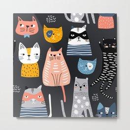 Wild Cats Pattern Metal Print