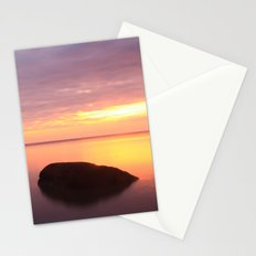 Fiery Sunset over the Porkies Stationery Cards