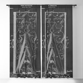 Chess Game Pieces Patent 1901 Blackout Curtain