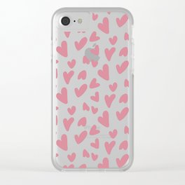 Hearts on Hearts Clear iPhone Case