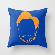 Best Ginger Ever. Throw Pillow