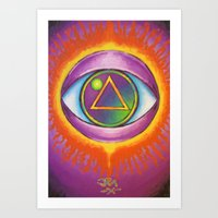 all seeing eye Art Prints featuring All Seeing Eye by Jedidiah Morley