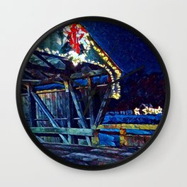 Mad River Coved Bridge, Vermont Wall Clock