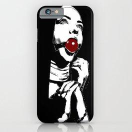 Pray for me - bondage, bdsm fantasy, kinky nun ball gagged, adult NSFW erotic iPhone Case