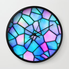 pastel stained glass Wall Clock
