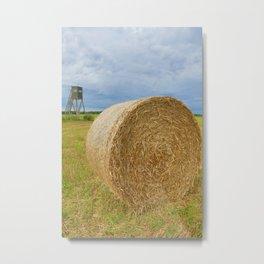 Straw bales 3 Metal Print