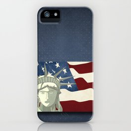 Statue of Liberty American Flag iPhone Case