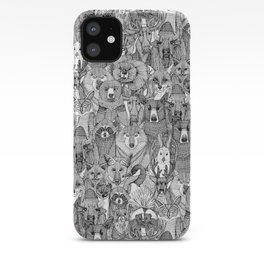 canadian animals black white iPhone Case