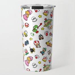 It's a really SUPER Mario pattern! Travel Mug