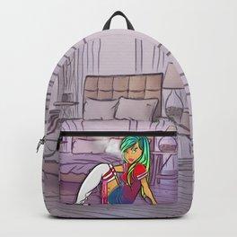 Purple Blazed, Smoking Lady Series Backpack