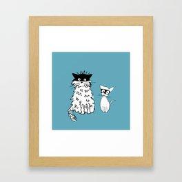 Ninja cats Framed Art Print