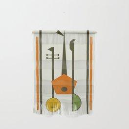 Mid-Century Modern Art Musical Strings Wall Hanging