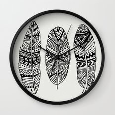 Feathers Of My Life Wall Clock
