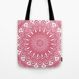 Red Wine Color Mandala Minimal Minimalistic Simple (Yet Bold) Tote Bag