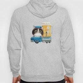 A cat in a beer truck Hoody