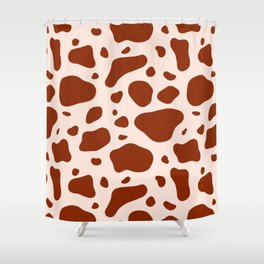 How Now Brown Cow Shower Curtain