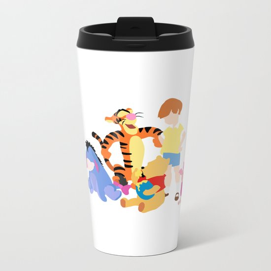 Winnie the pooh characters Metal Travel Mug