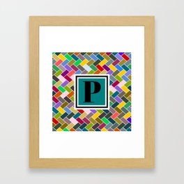 P Monogram Framed Art Print